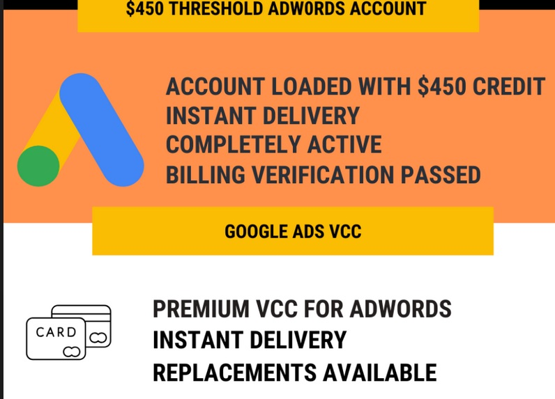 Adwords-Fully-Verified-450-Credits-Account-and-VCC