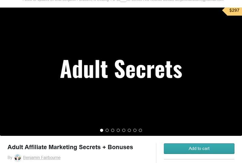 Benjamin Fairbourne - Adult Affiliate Marketing Secrets + Bonus