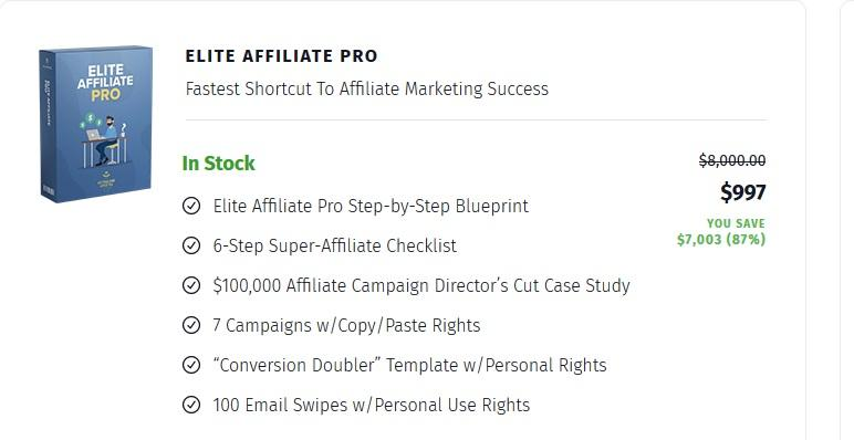 Elite Affiliate Pro - $50k Per Week On Clickbank With Very Small Traffic