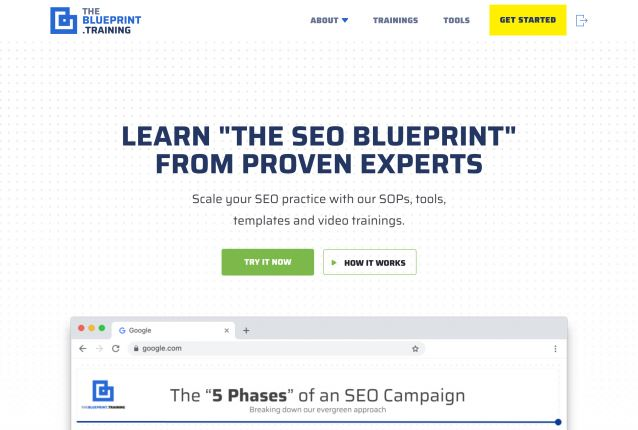 The Blueprint Training Seo Training 2019