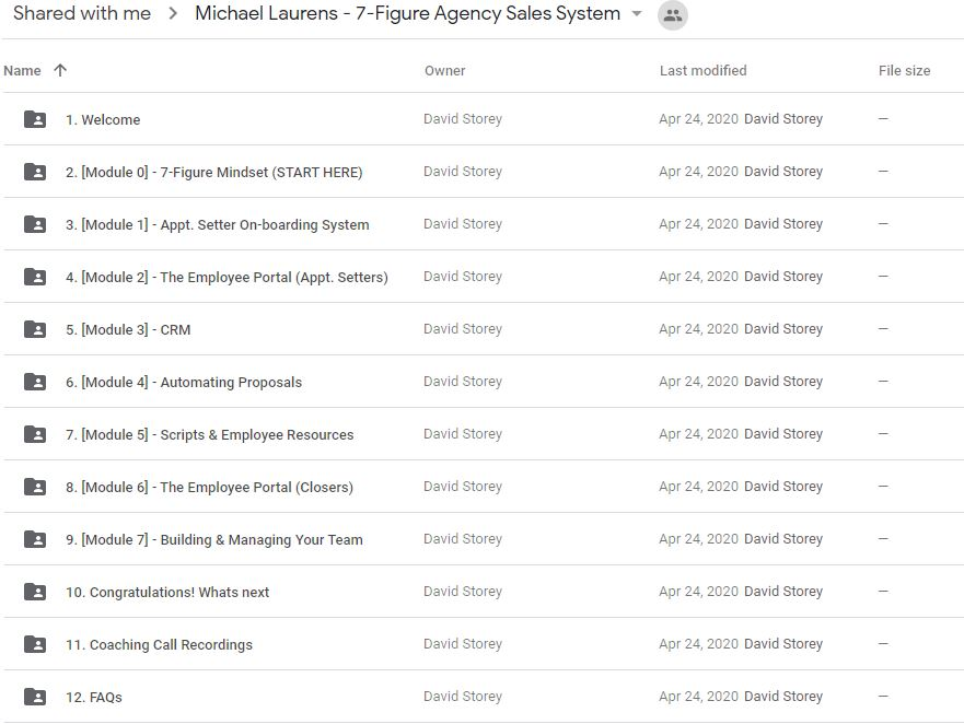 Michael Laurens - 7 Figure Agency Sales System